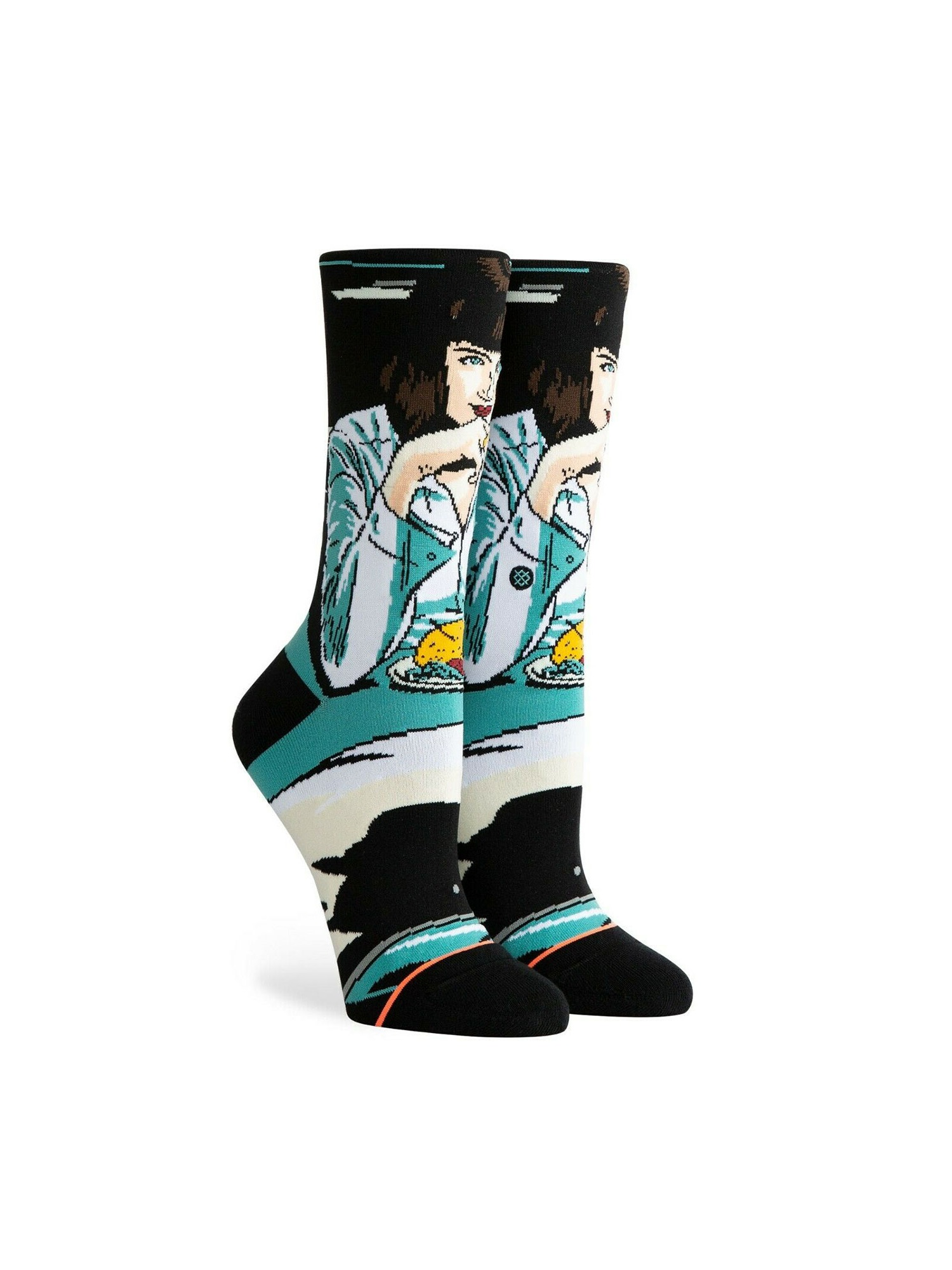 Stance Women/'s Mia Booth Crew Socks in Teal