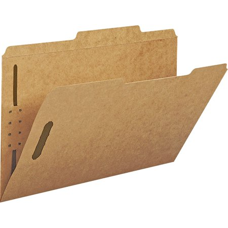 Smead, SMD19880, Kraft 2/5 Cut Tab Fastener File Folders, 50 / Box, Kraft