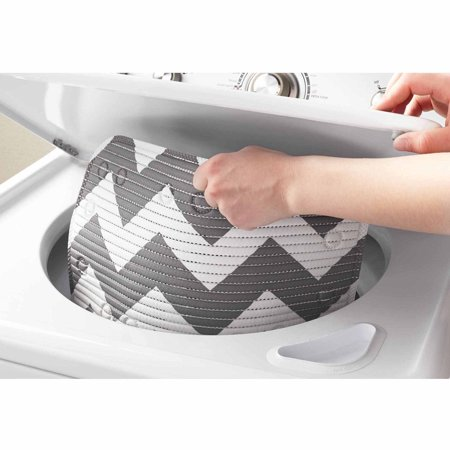 Mainstays Softex Designer Cushion Bath Mat Chevron Grey