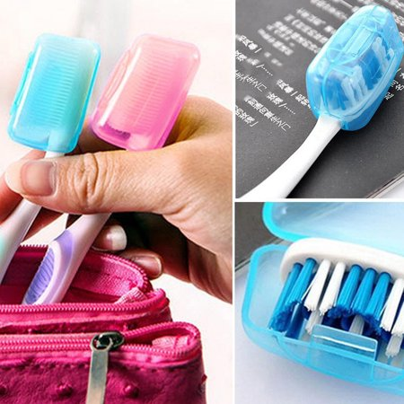 5PC Portable Toothbrushes Head Cover Holder Travel Hiking Camping