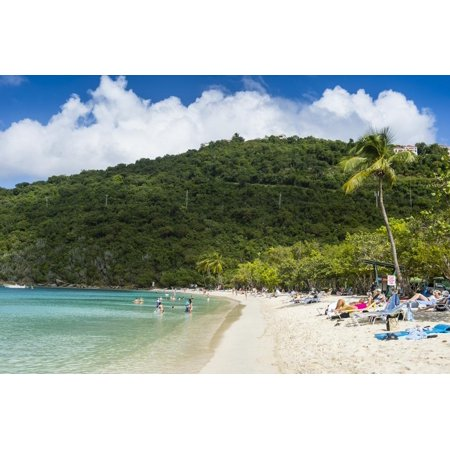 Magens Bay beach, St. Thomas, US Virgin islands, West Indies, Caribbean, Central America Print Wall Art By Michael