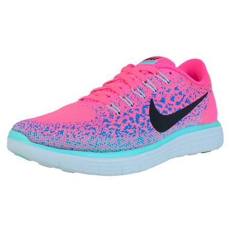 reputable site fa74e 2002c Nike - NIKE WOMENS FREE RN DISTANCE RUNNING SHOES HYPER PINK BLACK BLUE  GLOW 827116 601 - Walmart.com