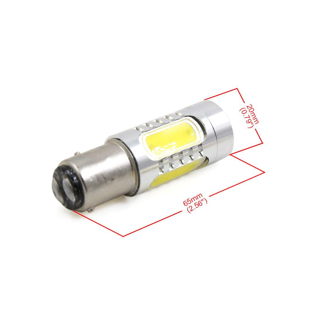 2Pcs 1157 BAY15d Warm White 6000K COB LED Projector Lens Brake Reverse Light - image 2 of 4