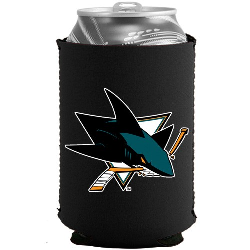 San Jose Sharks Black Collapsible Can Cooler - No Size