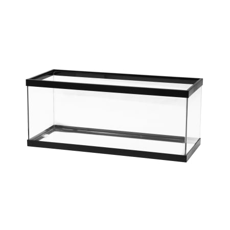 Aqueon 20 gal (Long) Standard Aquarium Tank, Black Trim (20 Gallon Long Fish Tank)