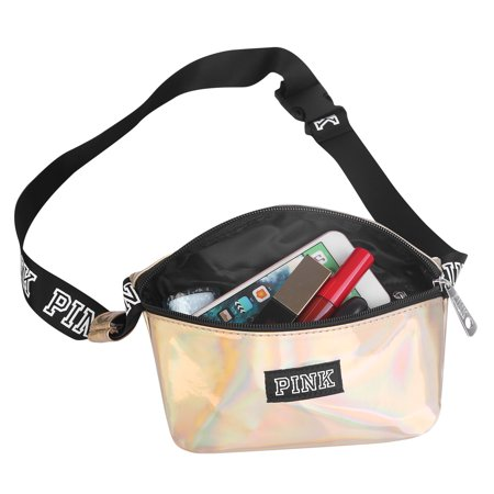 46da48fe9cc Women Fanny Pack Shiny Leather Waist Pack Bag Adjustable Belt Bum Bag for  Traveling Casual Running Cycling