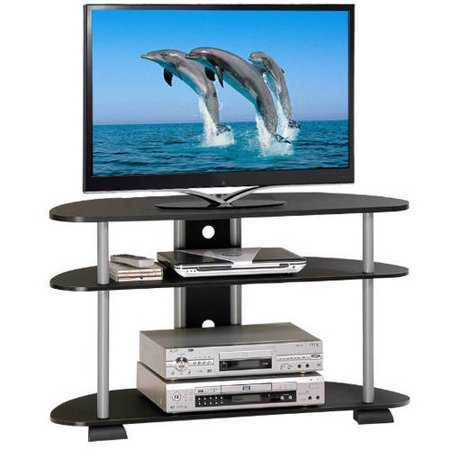 Turn-N-Tube 3-Tier TV Stand Entertainment Center for TVs up to 42″, Multiple Colors