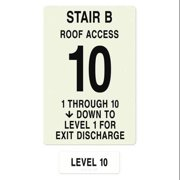 INTERSIGN NFPA-PVC1812(B1A10) NFPASgn,Stair Id B,Floors Served 1 to 10 G0263658