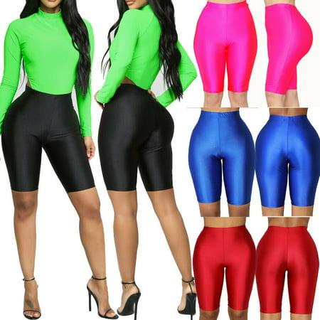 Fashion Women Stretch Biker Bike Shorts Yoga Workout Spandex Sports Leggings Knee Length