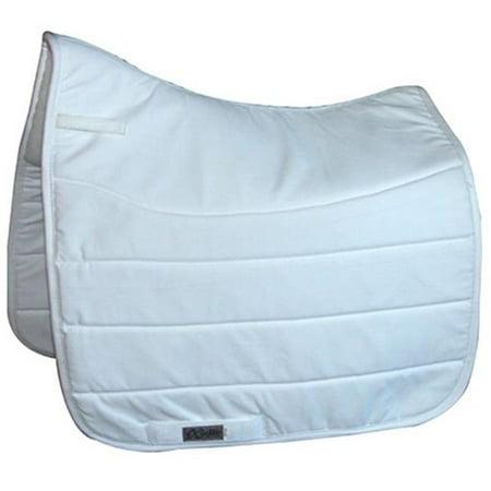 exselle 157174wt dressage double back saddle pad, white
