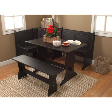 TMS Breakfast Nook 3-Piece Corner Dining Set, Multiple Colors ()