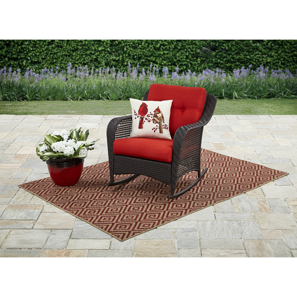 Mainstays Briar Creek Outdoor Wicker Rocking Chair with Cushion by PASCO ENTERPRISES LIMITED