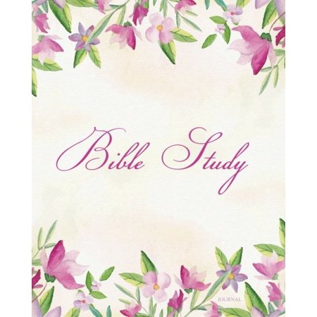 Bible Study Journal: Colorful Floral Scripture Christian Personal  Journaling Notebook - Bible Study Workbooks (christian journal notebook)  (Volume 1)