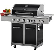 Better Homes and Gardens 5-Burner Gas Grill with Searing Side Burner, Rear Burner with Rotisserie Kit