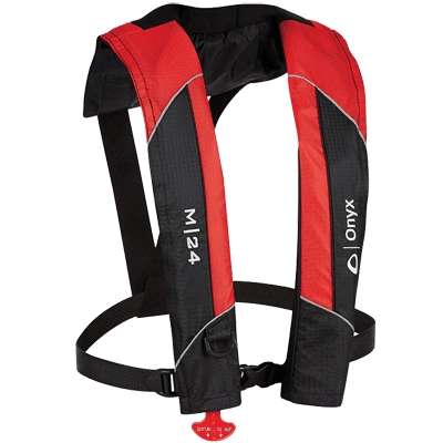 Onyx #131000-100-004-15 M-24 Manual Inflatable Life Jacket, Red by Onyx