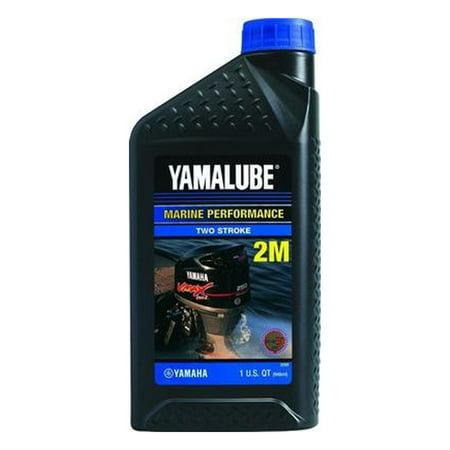 Yamaha Yamalube Outboard Engine Inject Oil 2 Stroke Quart LUB-2STRK-M1-12