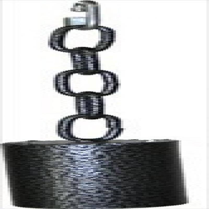 Image of A Cage AE002 Black Medium Metal Pipe Bell On A Chain