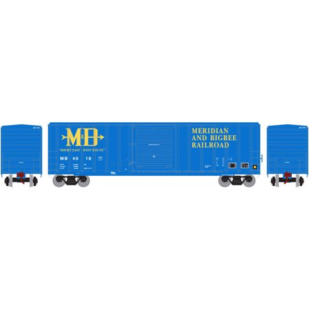 Athearn Ho Scale 50Ft Fmc 5347 Box Car Meridian   Bigbee Railroad M  4018