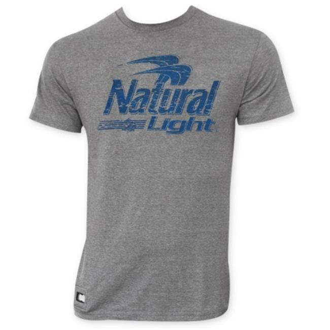 Natural Light 27191XXL Mens Gray Pop Top T-Shirt, 2X-Large