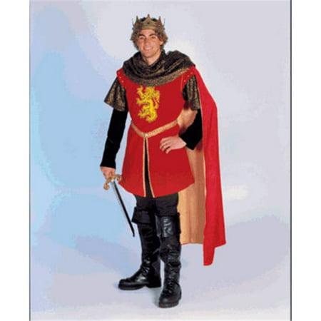 Secrets a Division of J Nunley SAM-07RXL King Arthur-XL Tunic  Cowl  Cape - Arthur Read Halloween Costume