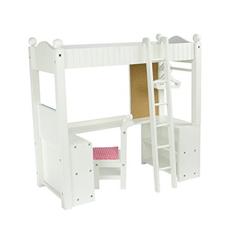Prime Olivias Little World Princess College Dorm Double Bunk Desk Wooden 18 Inch Doll Furniture Home Interior And Landscaping Ologienasavecom