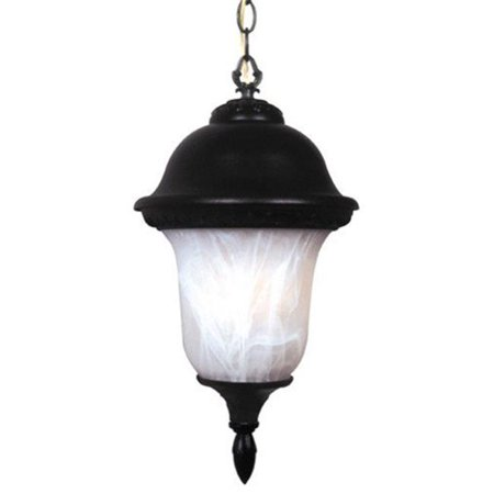 Special Lite Products F-3994-BLK-AB Glenn Aire Large Chain Pendent Light with Alabaster Glass, Black - image 1 of 1