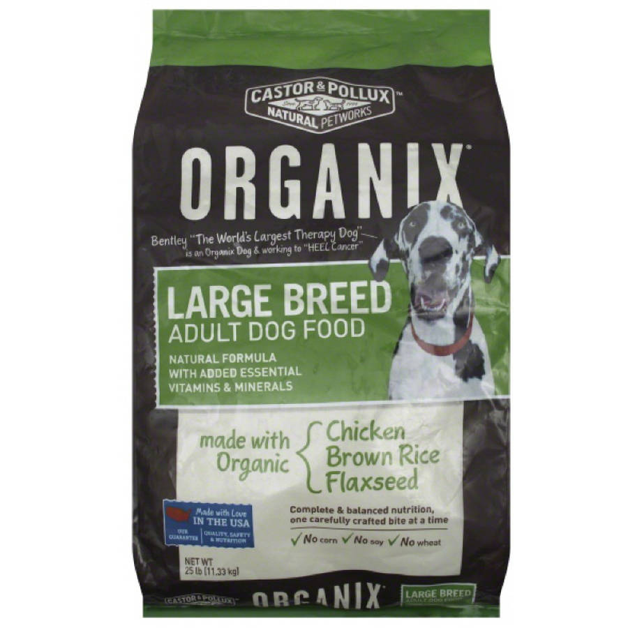 Organix Dog Food, Adult, Large Breed, Chicken, Brown Rice, Flaxseed, 25 lb