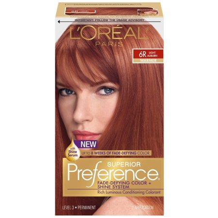 L'Oreal Superior Preference Permanent Hair Color, 6R Light Auburn (Warmer) 1 ea](One Direction Halloween Preferences)