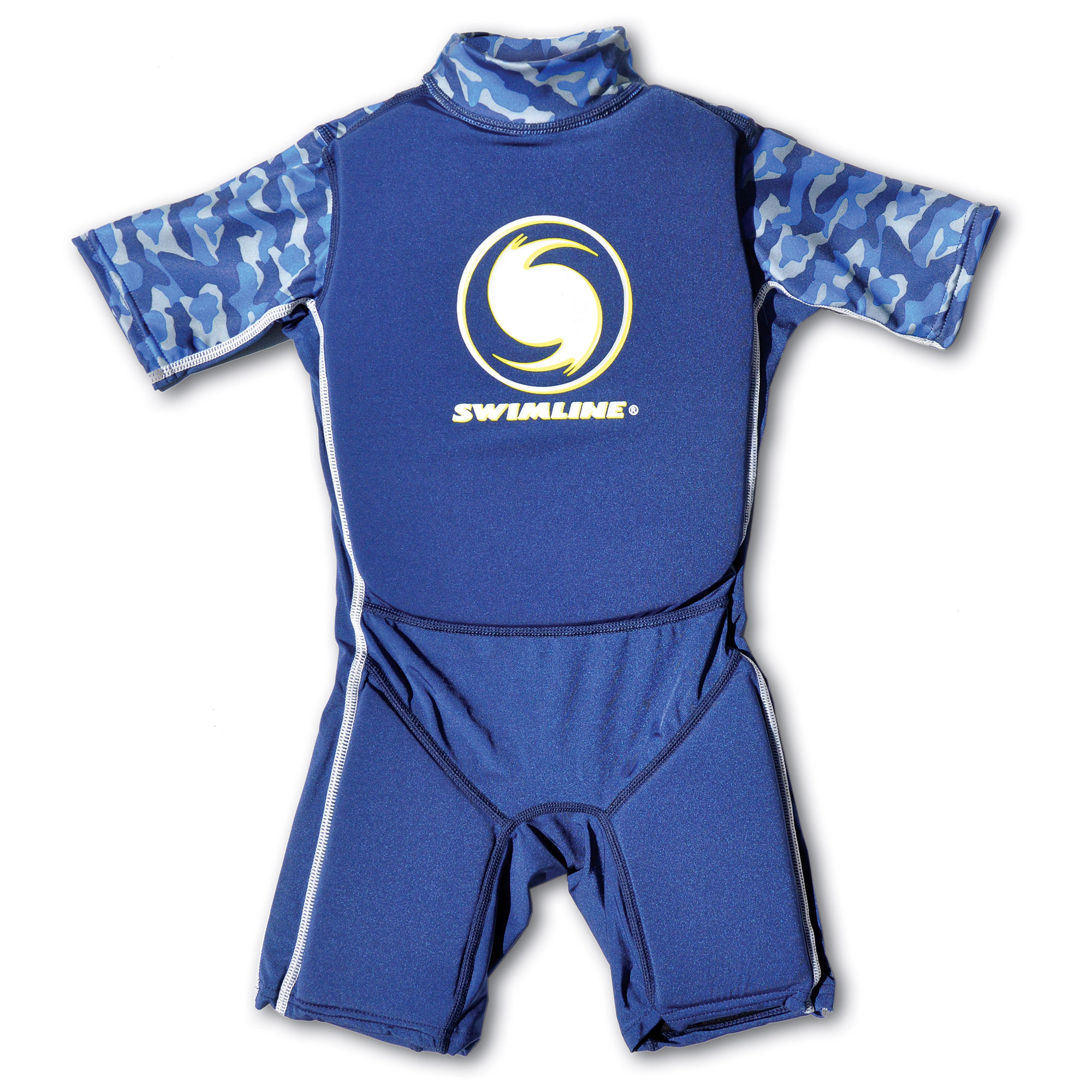 Swimline Blue Lycra Boy's Floating Swim Trainer Wet Suit Life Vest Medium 9894B