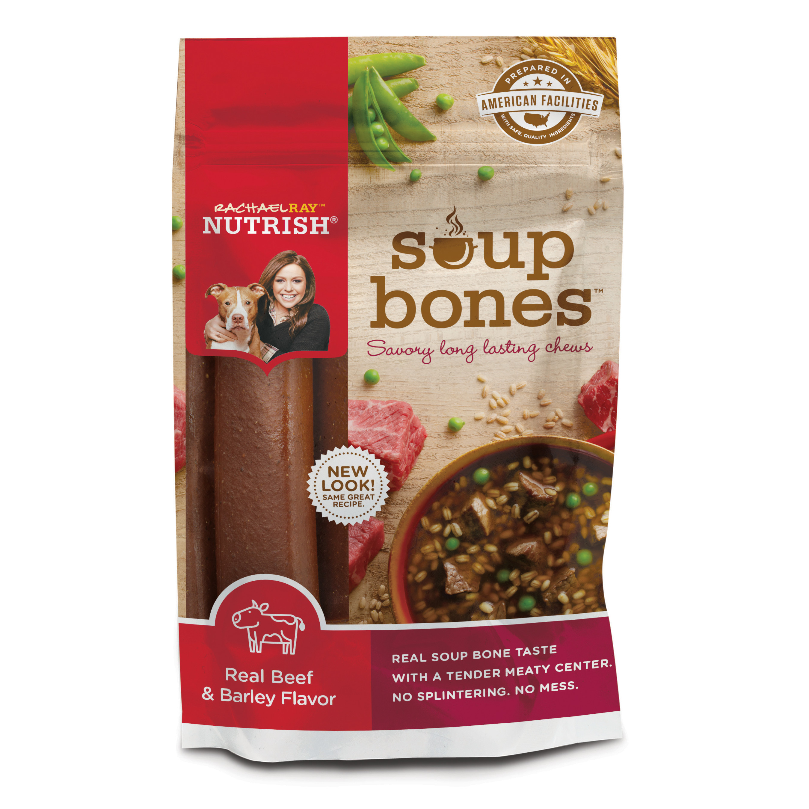 Rachael Ray Nutrish Soup Bones Dog Treats, Beef & Barley Flavor, 6.3oz