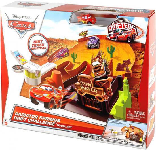 Disney Cars Micro Drifters Radiator Springs Drift Challenge Mini Car Playset
