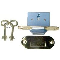 Brass Full Mortise Lock Set – Round - for Roll Top Desk - LRT-6