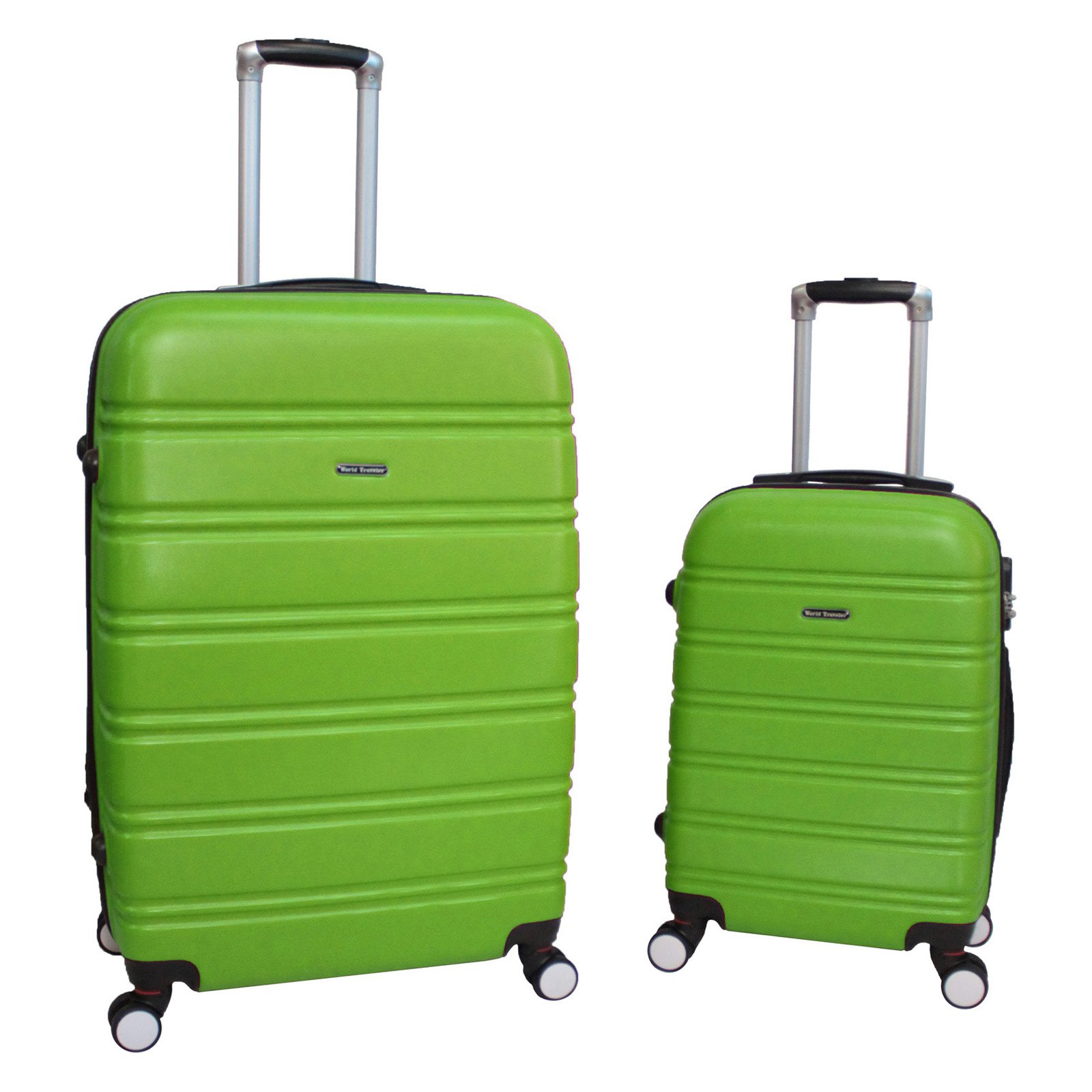 World Traveler Bristol 2 Piece Hardside Expandable Spinner Luggage Set