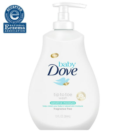 Baby Dove Sensitive Moisture Tip-to-Toe Fragrance-Free Wash - 13oz
