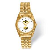 FB Jewels LogoArt University of Iowa Pro Gold-tone Gents Watch