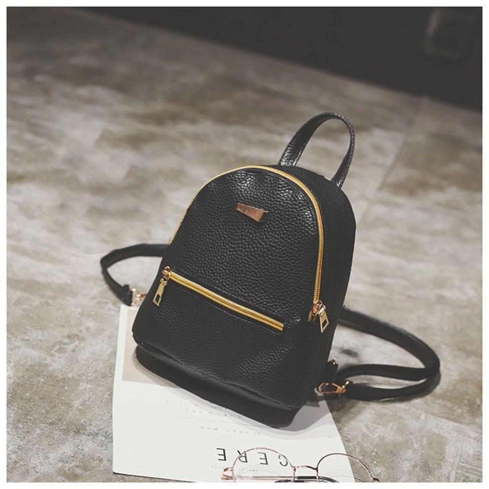 Backpack Bag PU Women Sweet Girl Travel Shoulder Bags Adjustable Straps by