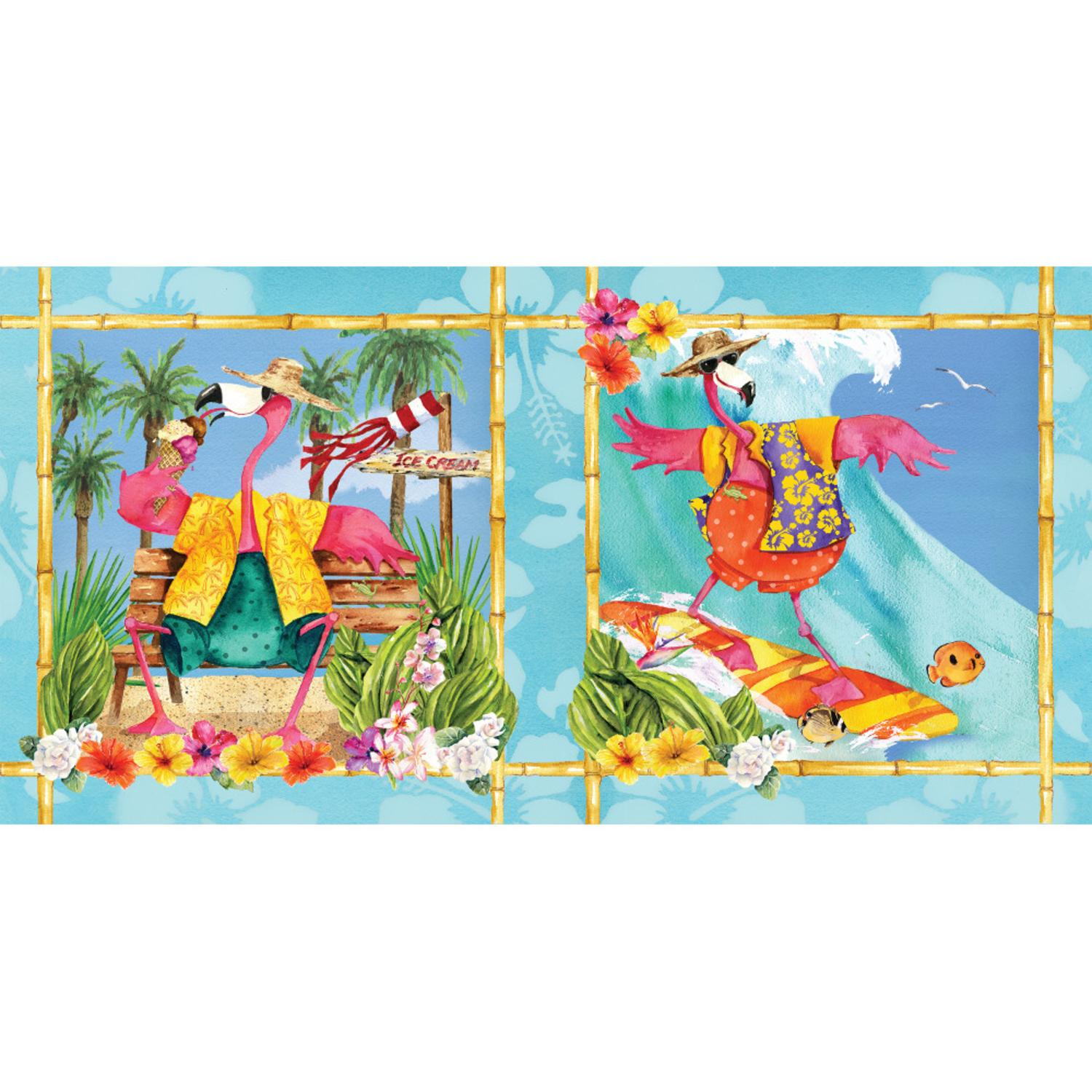 Club Pack of 12 Flamingo Fun Disposable Rectangle Plastic Banquet Party Table Covers 102