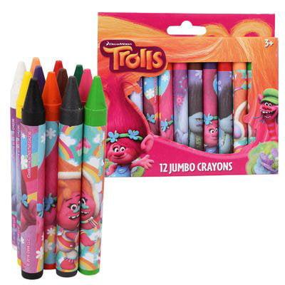 New Arrive Dreamwork Trolls Jumbo Crayon 12-pack - 1 Set
