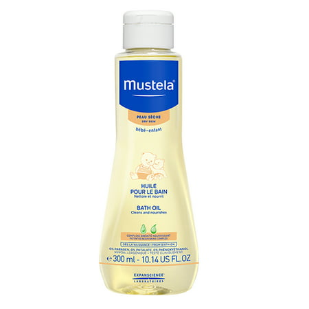 Mustela Baby Bath Oil for Dry Skin with Natural Avocado Oil 10.1 Oz (Natural Baby Oil)