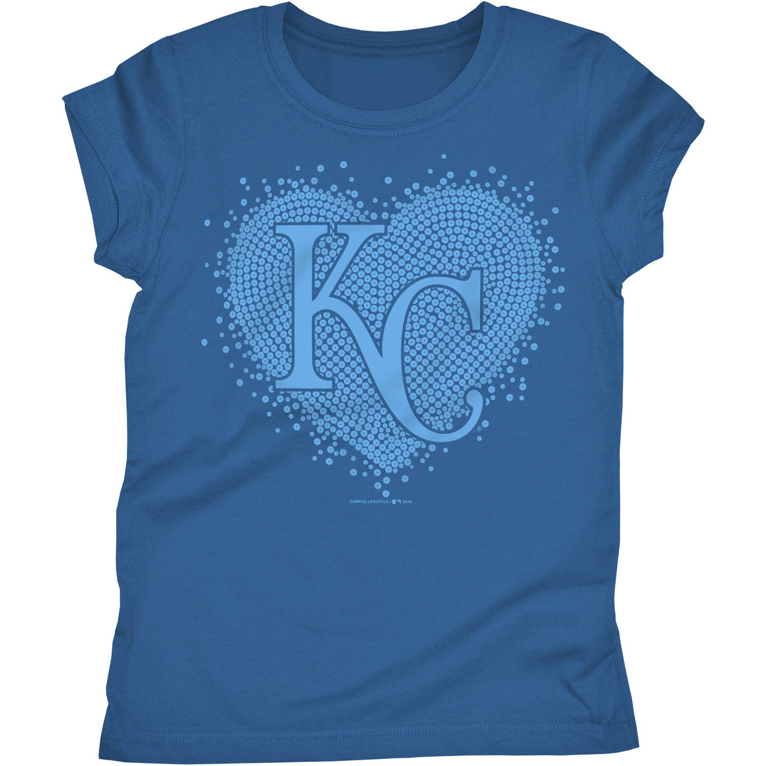 Kansas City Royals Girls Short Sleeve Graphic Tee