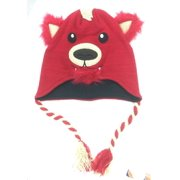 Aquarius Boys Red Fox Critter Style Peruvian Hat