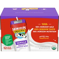 Horizon Organic 1% Lowfat Shelf Stable Vanilla Milk, 8 Oz., 12 Count