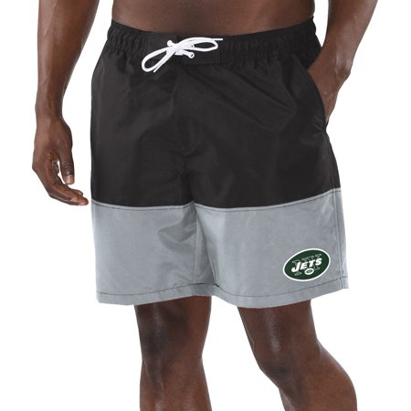 New York Jets G-III Sports by Carl Banks Anchor Volley Swim Trunks - Black/Gray
