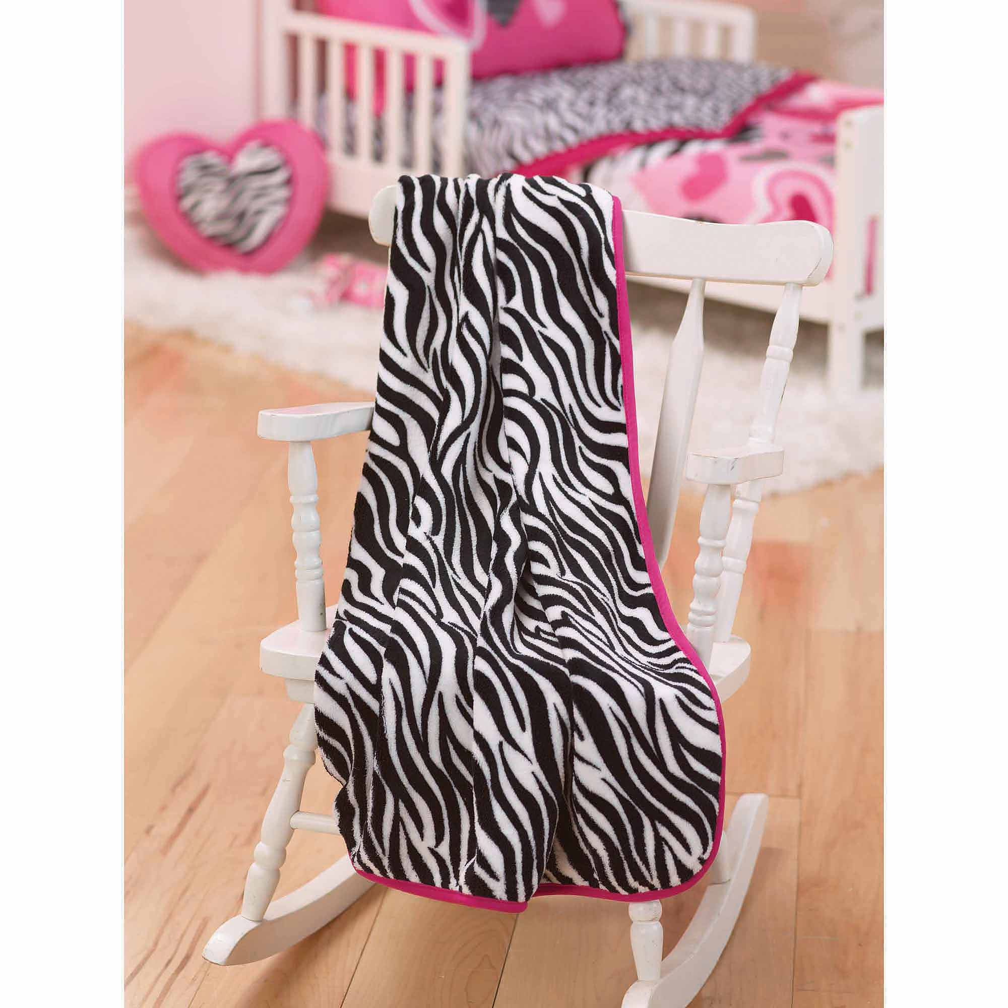 Garanimals Zebra Hearts Toddler Throw Blanket