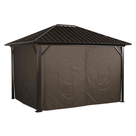 Sojag GENOVA 10' x 10' Gazebo Polyester Privacy Curtains Kit, Available in Multiple Sizes