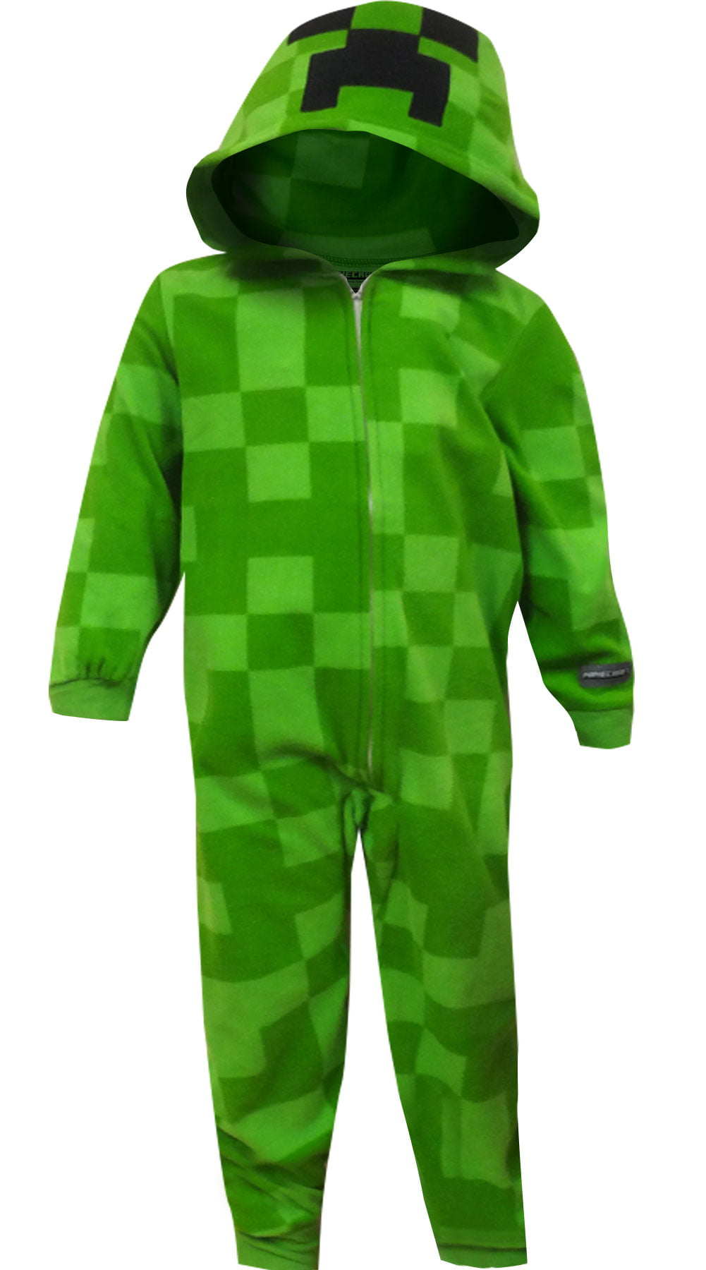 Minecraft Creeper Blanket Sleeper Pajama With Hood