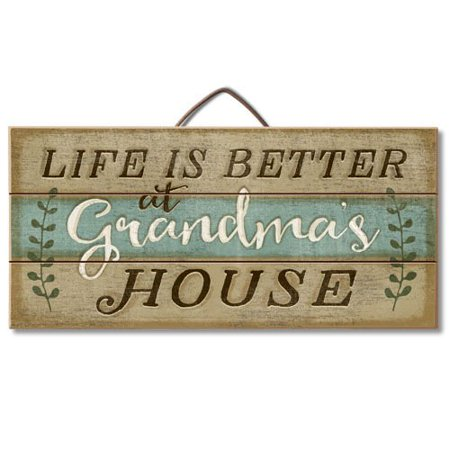 Life Is Better At Grandma's House Reclaimed Wood Pallet Sign - Made in USA!, Made of reclaimed wood slats from old wood pallets By Highland