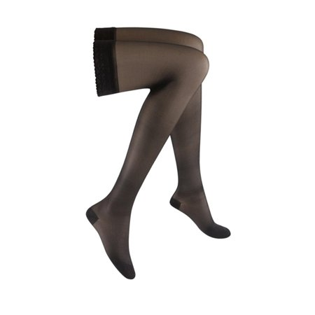 16c6464480 SIGVARIS - Women's Sheer Fashion 15-20 mmHg Closed Toe Thigh High Sock  Size: A, Color: Black 99, 15-20 mmHg By SIGVARIS Ship from US - Walmart.com