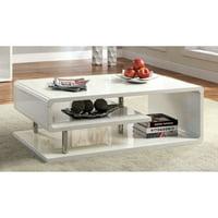 Furniture Of America Rocca Modern Tier Coffee Table White