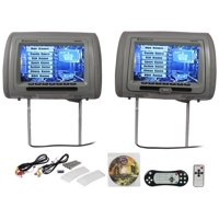 New Rockville RDP931-GR 9? Gray Car DVD/USB/HDMI Headrest Monitors+Video Games